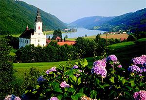 Et landskab i Østrig