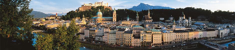 Mozartbyen Salzburg i Østrig